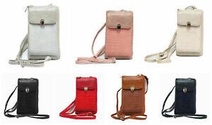 Damen Handy Tasche Geldbörse Umhängetasche Crossbody 2in1 kleine Handtasche P124