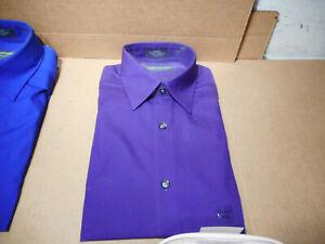 JOHN BARTLETT Statements broadcloth Dress Shirt 15-15.5; 34/35 Long Sleeve
