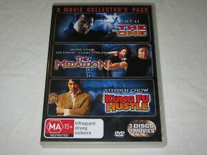 The One + The Medallion + Kung Fu Hustle - 3 Disc - VGC - Region 4 - DVD