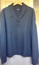 Polo Ralph Lauren Grey Button Neck Medium Knit Jumper, Size XL