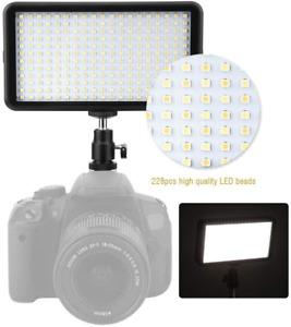 228 LED Video Light Panel Camera Panel Light Camera DSLR W228