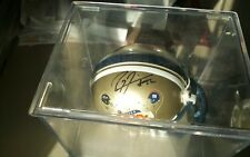 RAY LEWIS SIGNED SUPER BOWL 35 RAVENS MINI HELMET WILL PASS PSADNA CASE INCLUDED