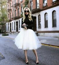 Candy Color Tulle Ballet Women Circle A Line Flare Gauze Tutu Skirt Plus Size