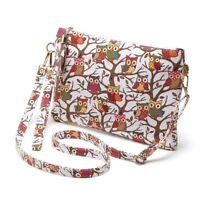 Canvas Shoulder Bag Owl Print Women Crossbody Messenger Purse Ladies Handbag
