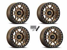 "Method 405 Beadlock ATV 15"" Wheels Rims Bronze 15x7 4+3 Sportsman XP550 850 1000"