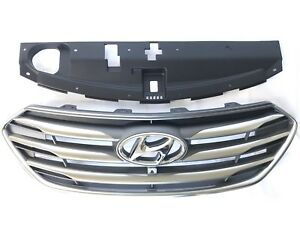 Santa Fe Sport 2017-2018 Front Bumper Upper Grille Camera Type With Sight Shield