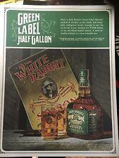 Jack Daniels White Rabbit Squatty 1/2 Gallon Green File Advertising Photo