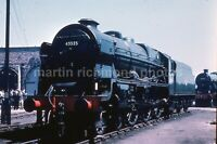 Crewe Works Patriot 45535 19.6.60 GTR 6613 Duplicate Railway Slide CR076