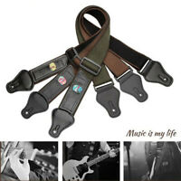 Guitar Strap Nylon Pick Holder with 3 Guitar Picks for Electric Acoustic Guitar^