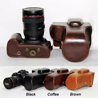New Retro Vintage Leather Camera Case Bag Cover for Canon EOS 5D Mark III II