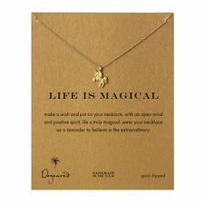 "Dogeared Life Is Magical Unicorn Gold Dipped 16"" Boxed Necklace"