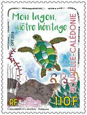 caledonia 2019 caledonie lagoon heritage lagon turtle tortue Schildkröte 1v mnh