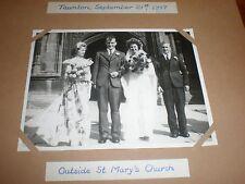 Old wedding photo St Mary's Taunton 1947