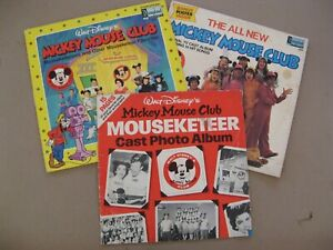 Walt Disney's Mickey Mouse Club LP's 1362 & 2501 + Cast Photo Album