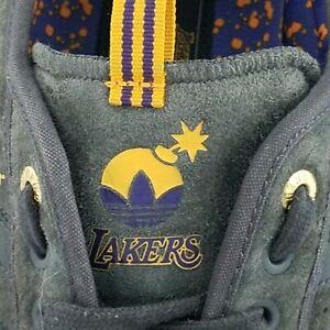 ADIDAS X The Hundreds NBA Lakers Adi-Ease ADV Skateboarding Shoes Men's US 13/48