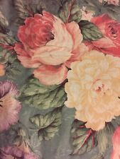 Vintage Twin 13� Floral Bed Skirt Ruffle Home Source Greenbriar Roses Mervyn's