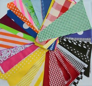rainbow of  fabric scraps / remnants poly cotton mixed colours 90 pieces approx