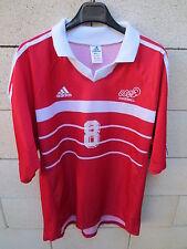Maillot handball porté n°8 US CRETEIL ADIDAS match worn shirt rouge XL