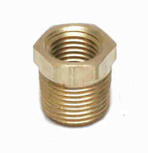 3/8 Male to 1/4 Female Npt Brass Pipe Reducer Bushing Fitting Water Fuel Gas Oil