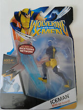 """MARVEL WOLVERINE AND THE X-MEN ICEMAN WITH ICEBOARD 4"""" ACTION FIGURE HASBRO 2009"""