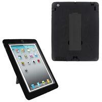 black hybrid case rugged shockproof full cover body skin for apple ipad 2 3 4