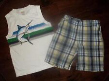 Gymboree Boy Marlin Fish Tank Top 365 Kids Shorts Summer Clothes Outfit Lot sz 5