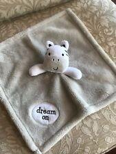 Baby Gear Gray Plush Zebra Security Blanket Dream On Cute!