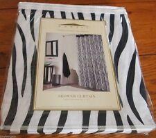 "Zebra Print Shower Curtain by Domain 72"" x 72"" 100% cotton WHITE & BLACK STRIPED"