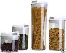 4 Food Storage Containers Set| Cereal containers| Plastic Food Boxes with Lids