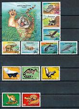 Dieren 21 complete series + 8 blokken; apen, katachtigen, insecten, reptielen,..