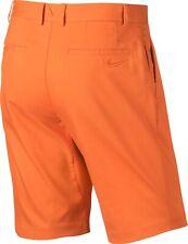 Nike Golf Modern Fit Dri Fit Flat Front Orange Casual Cotton Shorts Size 34 $65