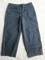 Size 8 Women's Cropped Capri Talbots Dark Blue Stretch Pants