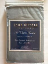 Park Royal Gray 310 Thread Count 100% Cotton Santee Standard Pillowcases