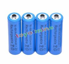 4 AA 3000mAh Ni-MH rechargeable battery 2A LR6 Blue