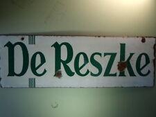 De Reske Cigarettes Enamel Sign.