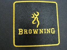 BROWNING FIREARMS VEST PATCH 3 in. CREST SIZE SEW ON GUN PATCH 100% EMBROIDERY