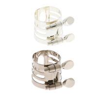 Metal Alto Saxophone Sax Mouthpiece Clamp Ligature Clip for Saxophonist