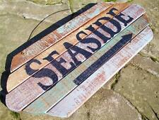 SEASIDE WEATHERED WOOD PLANK SIGN~Beach Tropical Paradise Nautical Decor NEW