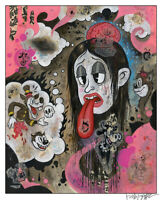 """SAPPHIRA'S VISIONS 12x18"""" signed print By Frank Forte Pop Surrealism Betty Boop"""