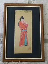 Très belle aquarelle chinoise du 19 èmes chineese painting