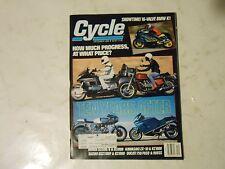 DEEMBER 1988 CYCLE MAGAZINE.16 VALVE BMW K1,KAWA ZX-10,KZ1000,DUCATI 750,900SS,