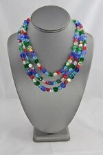 SWAROVSKI Triple Strand TORSADE PRIMARY Color CRYSTAL NECKLACE MAGNETIC CLASP