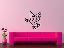 Wall Stickers Vinyl Decal Bird Dove Of Peace Olive Branch Love ig115