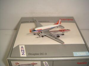 """Herpa Wings 500 Airlines of New Zealand ANZ C-47A-DL DC-3 """"1950s color"""" 1:500"""