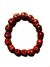 HANDMADE TIBETAN WOOD SKULL BEADS BRACELET - ACCEPTANCE AND REFLECTION