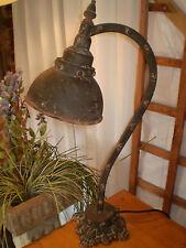 FRENCH  WAREHOUSE METAL INDUSTRIAL VINTAGE STYLE TABLE LAMP.,40 WATT.
