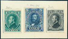 HONDURAS #32 // #113P3 (3) DIFF ABNCo XF-S PLATE PROOFS ON INDIA EX-GREEN BQ3917