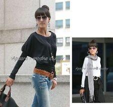 Taillenlange Damenblusen, - tops & -shirts aus Baumwolle für die Freizeit