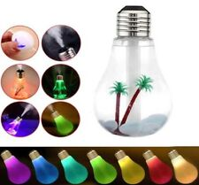 Diffusore aromi umidificatore LAMPADINA RGB palma sassi USB aromaterapia lampada