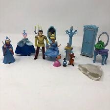 Disney Prince Princess Cinderella Polly Pocket Dolls Furniture Set